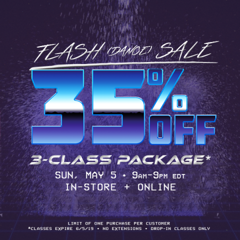 Flash (Dance) Sale 35% OFF 3-class package